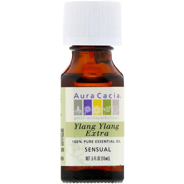 100% чистое эфирное масло иланг-иланга экстра, 0.5 жидкой унции (15 мл)