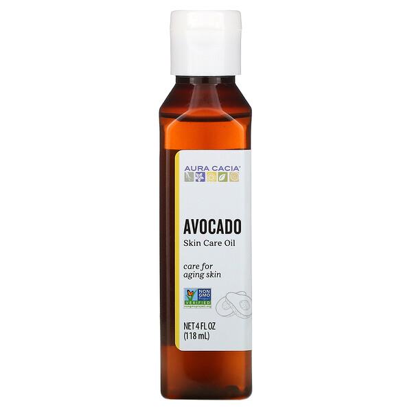 Aura Cacia, Skin Care Oil, Comforting Avocado, 4 fl oz (118 ml)