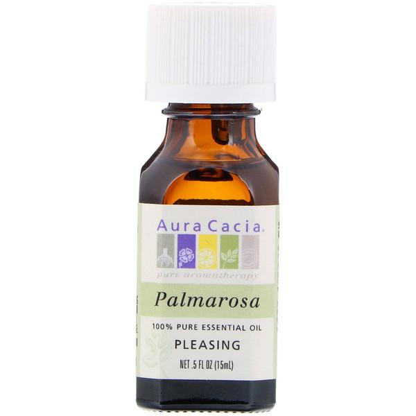 100% чистое эфирное масло пальмарозы, 5 жидких унций (15 мл)