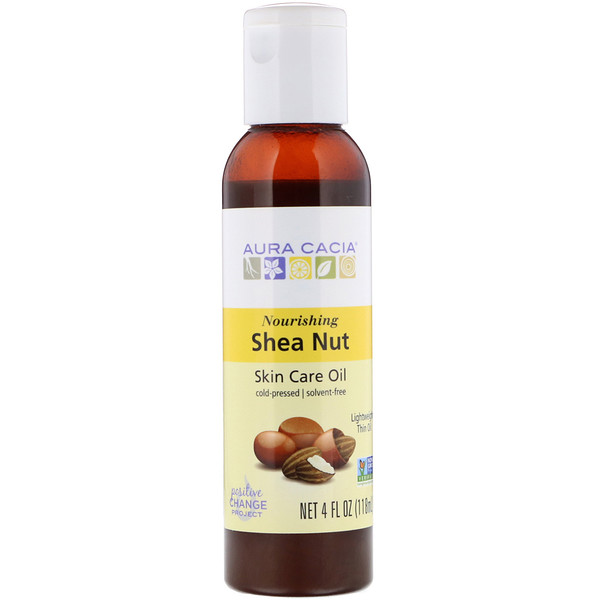 Aura Cacia, Skin Care Oil, Nourishing Shea Nut, 4 fl oz (118 ml) (Discontinued Item)