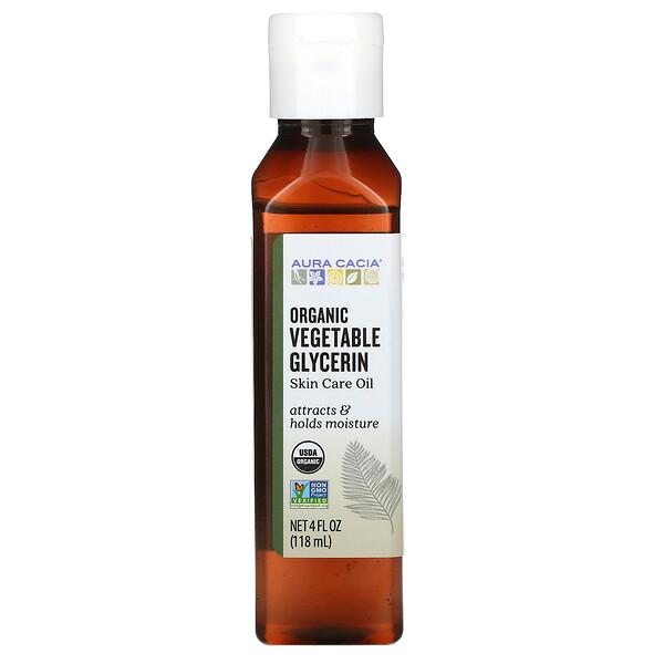 Vegetable Glycerin, Organic, Skin Care, 4 fl oz (118 ml)