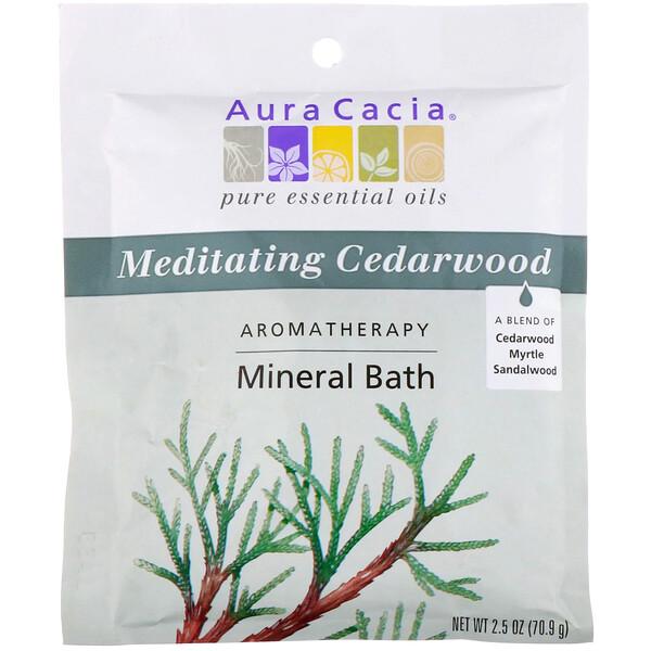 Ароматерапевтическое средство для ванны с минералами, медитативный кедр, 2,5 унций (70,9 г)