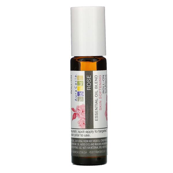 Смесь эфирного масла, смягчающий кожу роликовый аппликатор, роза, 0,31 жидкие унции (9,2 мл)