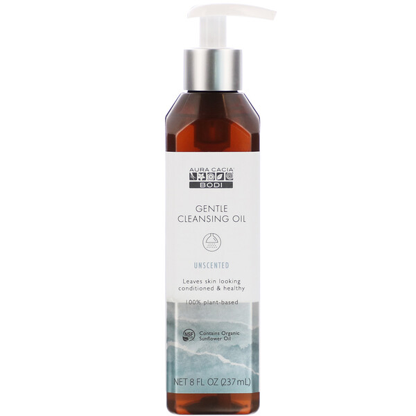 Gentle Cleansing Oil, Unscented, 8 fl oz (237 ml)