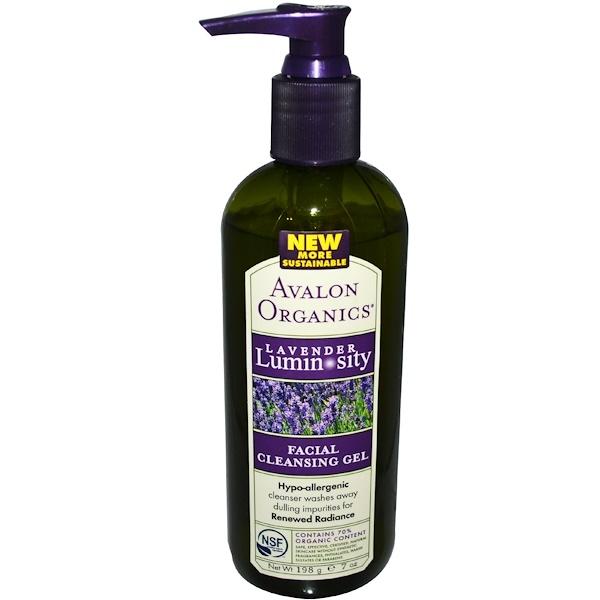 Avalon Organics, Гель для умывания, Lavender Luminosity, 198 г (Discontinued Item)