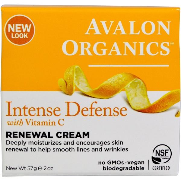 Intense Defense, восстанавливающий крем с витамином С, 57 г (2 унции)