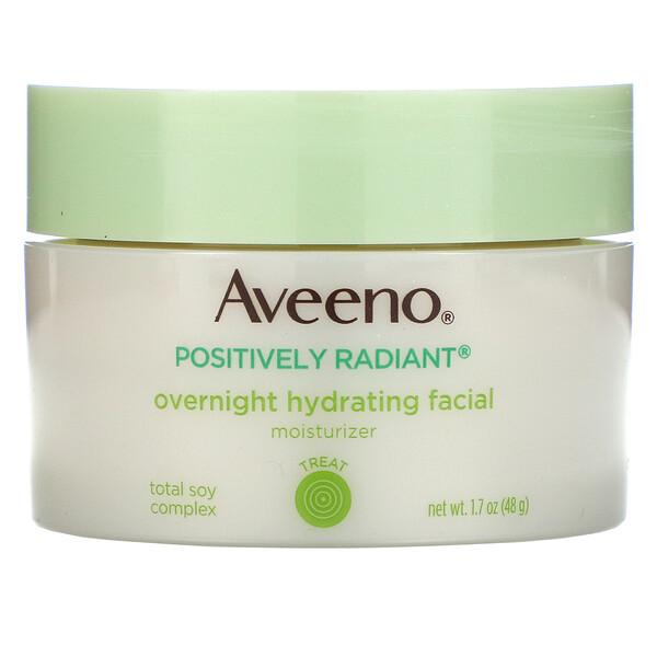 Active Naturals, Positively Radiant, ночной увлажняющий крем для лица, 1,7 унц. (48 г)