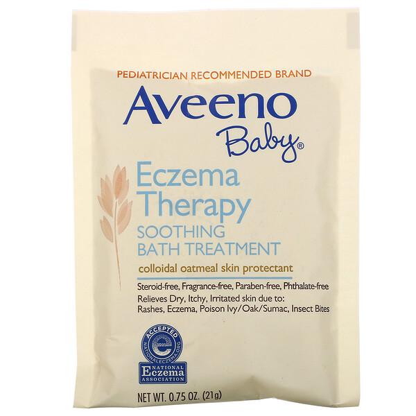 Успокаивающее средство для принятия ванн при экземе у детей, без запаха, 5пакетиков, 106г (3,75 унций)