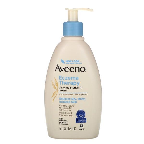 Aveeno, Eczema Therapy, Moisturizing Cream, Fragrance Free, 12 fl oz (354 ml)