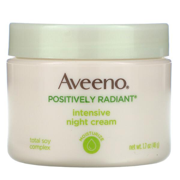 Active Naturals, Positively Radiant, ночной крем интенсивного действия, 1,7 унц. (48 г)
