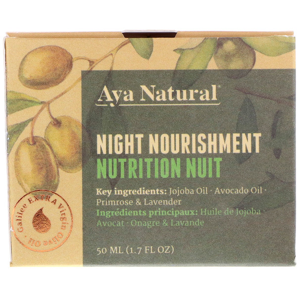 Aya Natural, Ночной питательный крем, 1,7 ж. унц.(50 мл) (Discontinued Item)