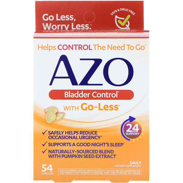 Bladder Control, with Go-Less, 54 Capsules