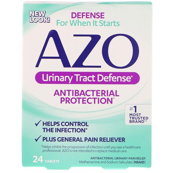 Azo, Защита мочевыводящих путей, антибактериальная защита, 24 таблетки (Discontinued Item)