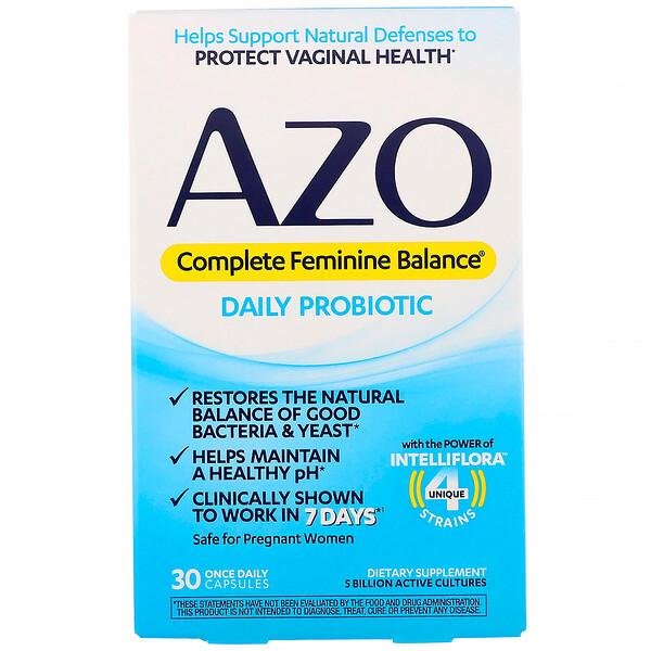 Complete Feminine Balance, ежедневный пробиотик для женщин, 30 капсул для приема один раз в день