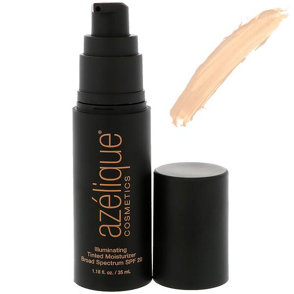 Azelique, Осветляющий тонирующий увлажняющий крем широкого применения SPF 20, светлый, этичный, сертифицированный веганский, 1,18 жидкой унции (35 мл) (Discontinued Item)