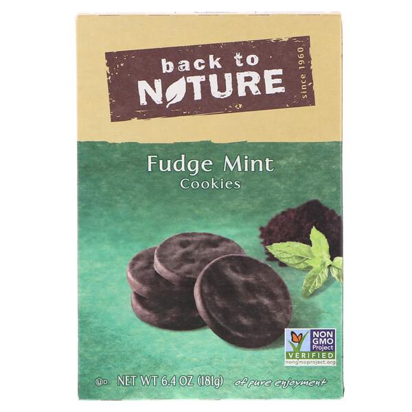 Back to Nature, Мятное печенье в шоколаде, 6,4 унции (181 г) (Discontinued Item)