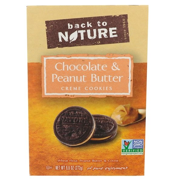 Back to Nature, Печенье из сливочного крема с шоколадом и арахисом, 272 г (Discontinued Item)