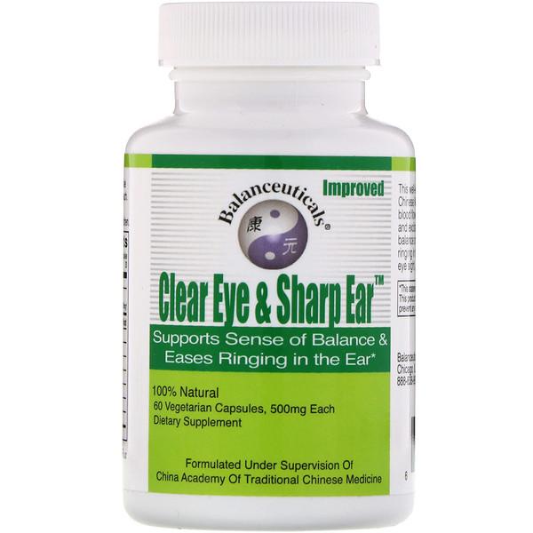 Clear Eye & Sharp Ear, 500 mg, 60 Vegetarian Capsules