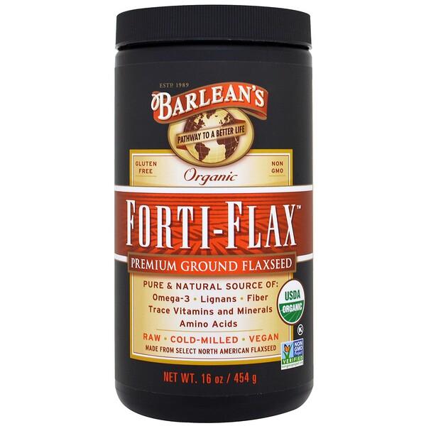 Органический Forti-Flax, молотое льняное семя высшего качества, 16 унций (454 г)