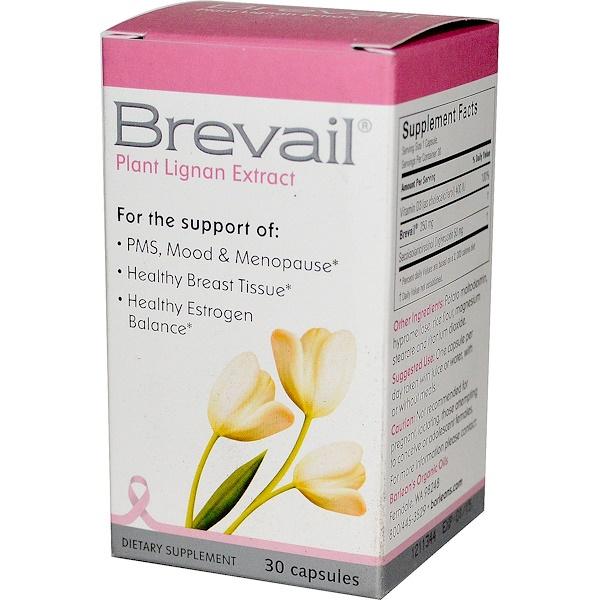 Brevail, Экстракт растительного лигнина, 30 капсул