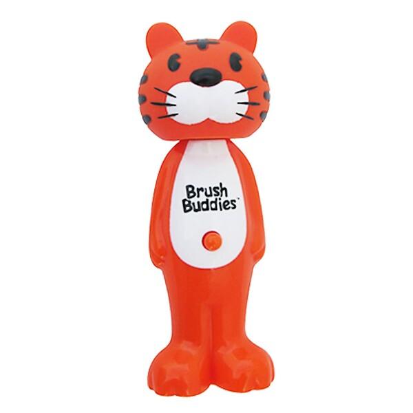 Poppin', зубастый тигр Тоби, мягкая, 1 зубная щетка
