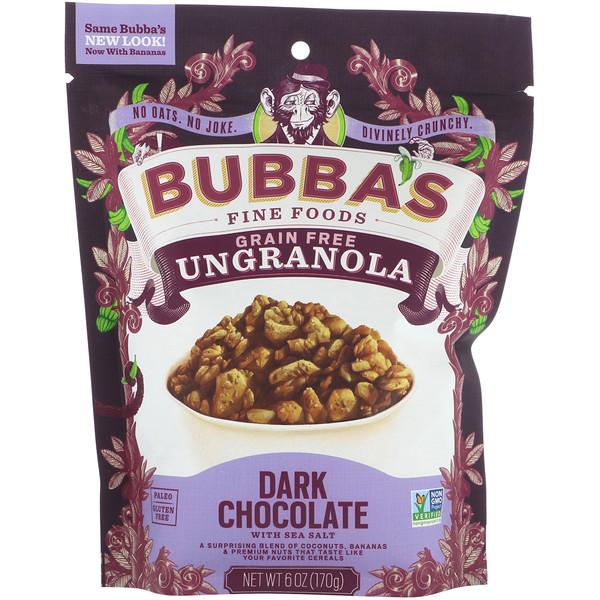 Bubba's Fine Foods, UnGranola, шоколад Убер, 170 г (Discontinued Item)