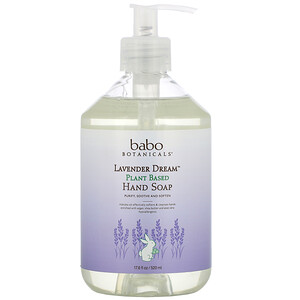 Babo Botanicals, Lavender Dream, Plant Based Hand Soap, 17.6 fl oz (520 ml)