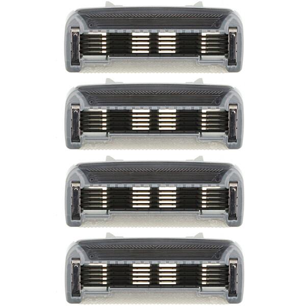 Оригинальные сменные картриджи со стальными лезвиями, 4картриджа с 5лезвиями