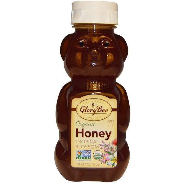 GloryBee, Органический мед с тропических цветов, 12 унций (340 г) (Discontinued Item)