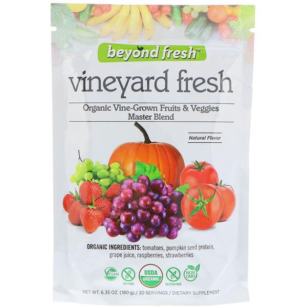 Beyond Fresh, Свежесть виноградника, эталонная смесь органических выращенных на лозе фруктов и овощей, натуральный вкус, 180 г (Discontinued Item)