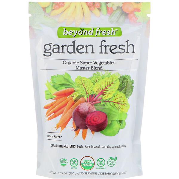 Свежесть сада, эталонная смесь органических суперовощей, натуральный вкус, 180 г