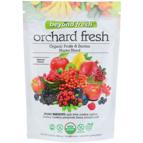 Фруктовая свежесть, эталонная смесь фруктов и ягод, натуральный вкус, 6,35 унц. (180 г)