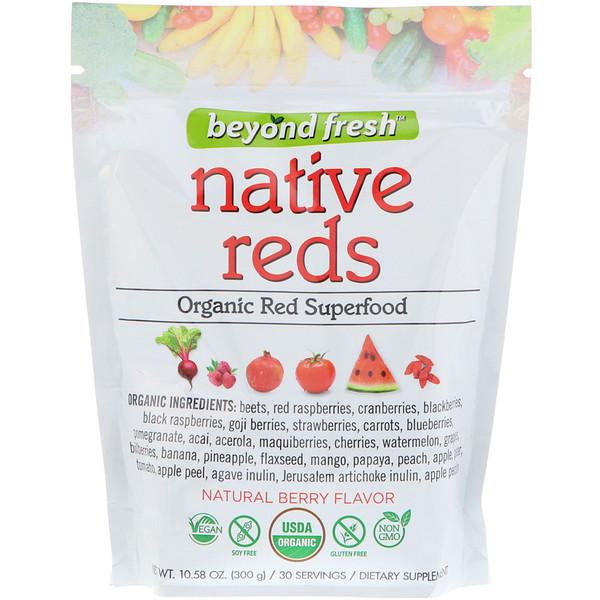 Истинно красный, органический красный суперпродукт, натуральный ягодный вкус, 10,58 унц. (300 г)