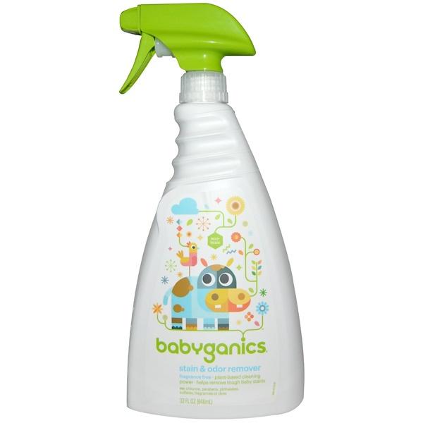 BabyGanics, Пятновыводитель и средство для удаления запаха, без запаха, 946 мл (32 жидких унции) (Discontinued Item)