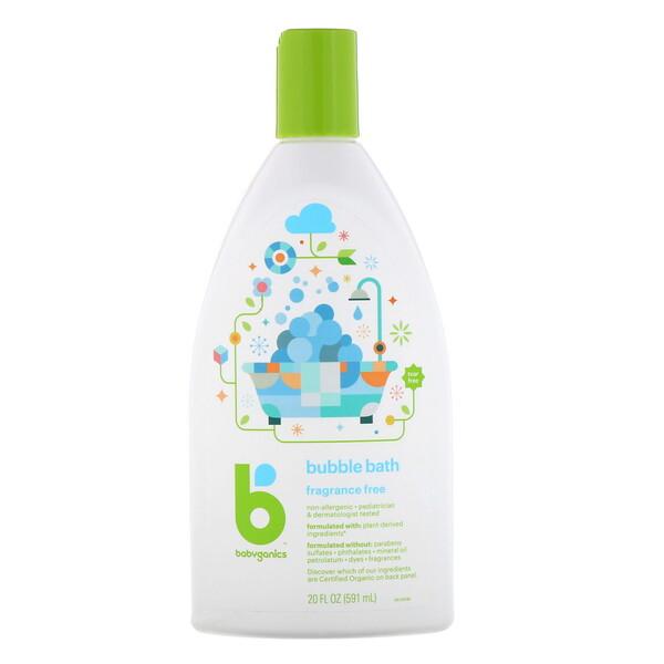 BabyGanics, Пенящееся средство для ванн, без отдушек, 591мл (20жидк. унций) (Discontinued Item)
