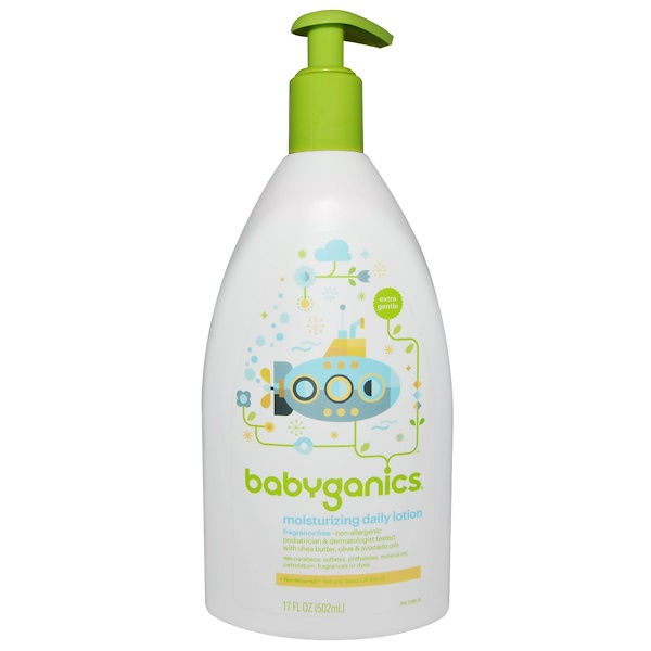 BabyGanics, Особо мягкий, увлажняющий лосьон для ежедневного использования, без отдушек, 17 жидких унций (502 мл) (Discontinued Item)