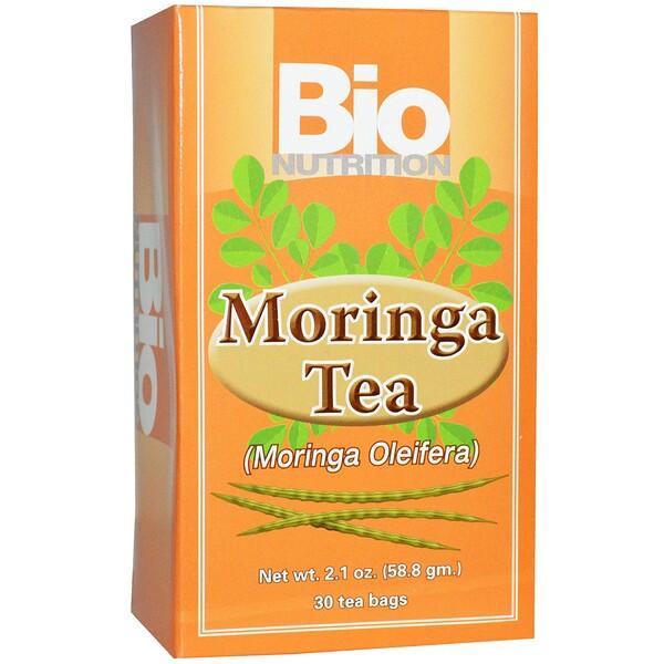 Bio Nutrition, чай из моринги, 30 чайных пакетиков, 58,8 г (2,1 унции)