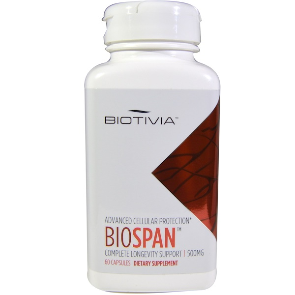 Biotivia, Bio Span, 500 mg, 60 Capsules (Discontinued Item)