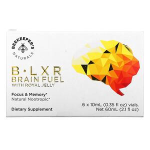 Beekeeper's Naturals, B. LXR Brain Fuel, 6 Vials, 0.35 fl oz (10 ml) Each