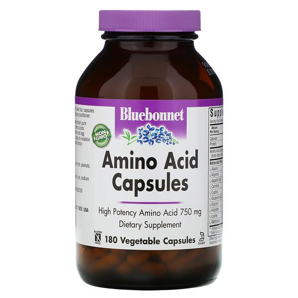 Капсулы с аминокислотами, 750мг, 180растительных капсул