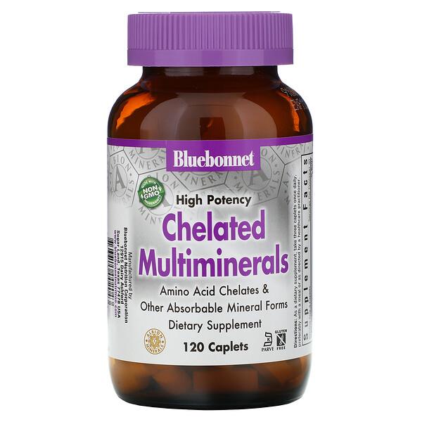 Bluebonnet Nutrition, Хелатные мультиминералы высокой эффективности, 120 капсул