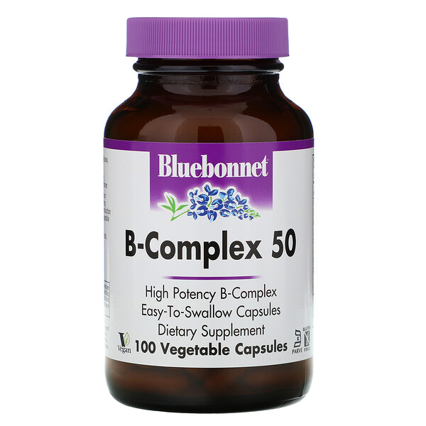 Bluebonnet Nutrition, B-Complex 50, 100 Vegetable Capsules