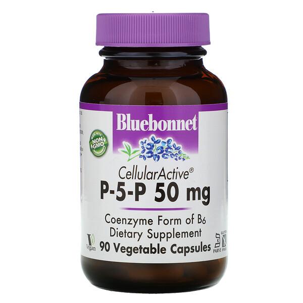Bluebonnet Nutrition, P-5-P, 50 мг, 90 растительных капсул
