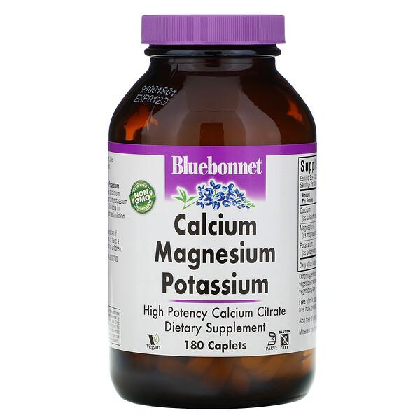 кальций, магний и калий, 180 капсуловидных таблеток