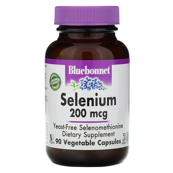 Селен, бездрожжевой селенометионин, 200 мкг, 90 растительных капсул