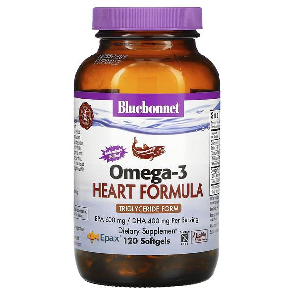 Натуральная формула для поддержки сердца с омега-3, 120 мягких желатиновых капсул