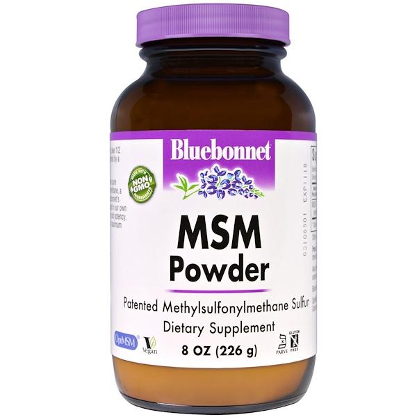 Bluebonnet Nutrition, Порошок MSM, 8 унций (226 г) (Discontinued Item)