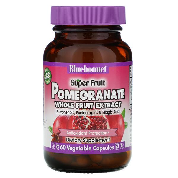 Bluebonnet Nutrition, Super Fruit, экстракт плодов граната, 60 растительных капсул