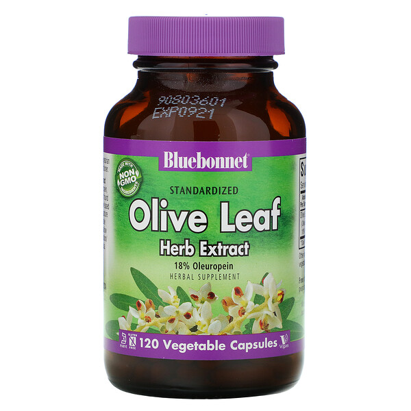 Bluebonnet Nutrition, Olive Leaf, Herb Extract, 120 Vegetable Capsules (Discontinued Item)