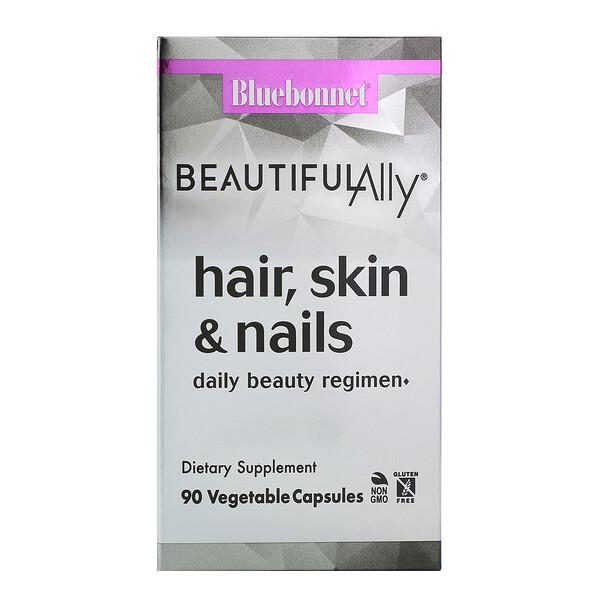 Beautiful Ally, Для волос, кожи и ногтей, 90 вегетарианских капсул